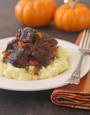 Post image for Braised Provencale Short Ribs with Creme Fraiche Mashed Potatoes