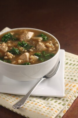 Post image for Chicken, Barley and Kale Soup