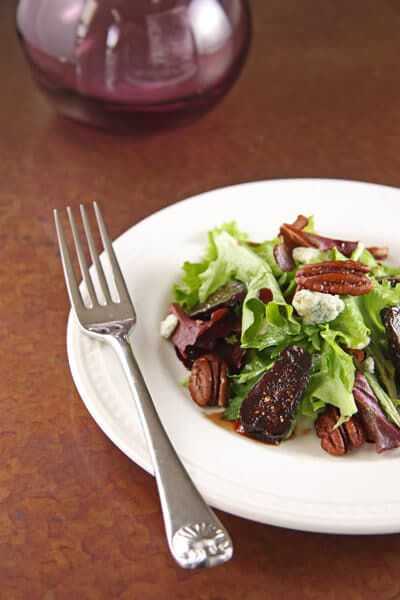 Why it really isn't  all about the Turkey –  Greens with Pomegranate Braised Figs