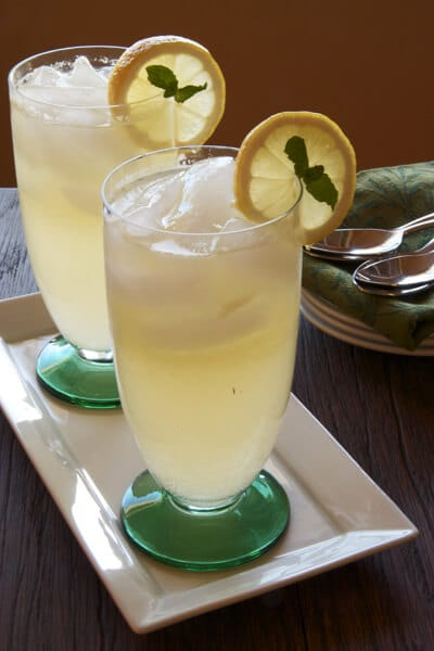 Sparkling Ginger Lemonade.... Cheers! - A Communal Table