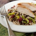 Apricot Glazed Chicken with Cranberry Rice Pilaf