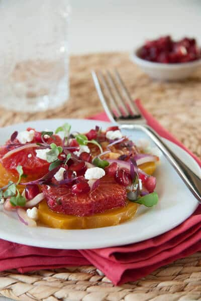 Beet Blood orange and goat cheese salad bc21 Blood Orange, Beet and Goat Cheese Salad