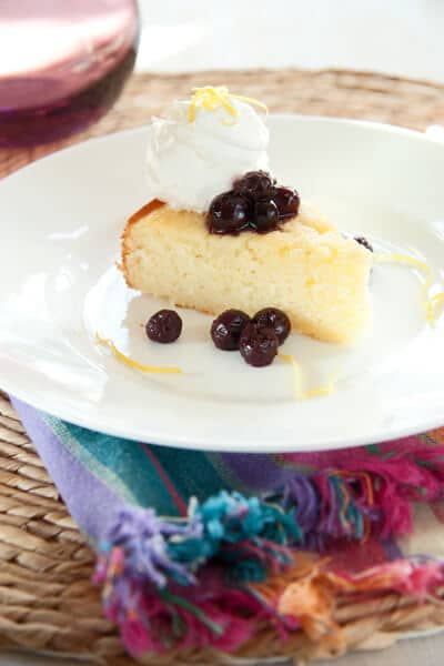 Post image for Lemon Buttermilk Cake with Blueberry Compote