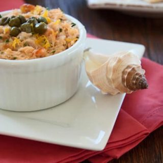 Salmon Rillettes made with fresh and smoked salmon this elegant appetizer couldn't be easier to make.