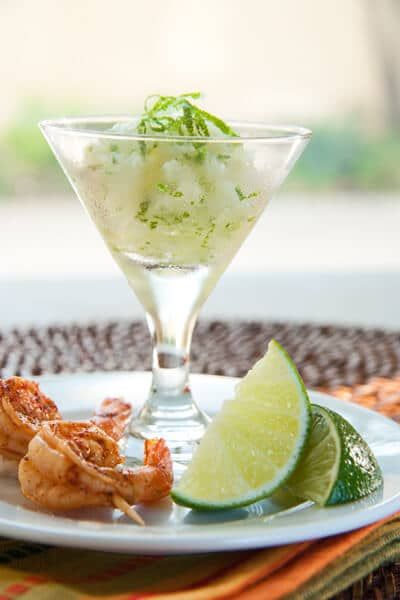 Margarita Granita with Spicy Shrimp - A Communal Table