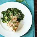 Asian Greens with Opah and Thai Mint Vinaigrette