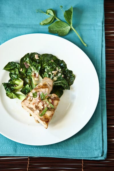 Asian-Greens-with-Opah-and-Thai-Mint-VinaigretteBC