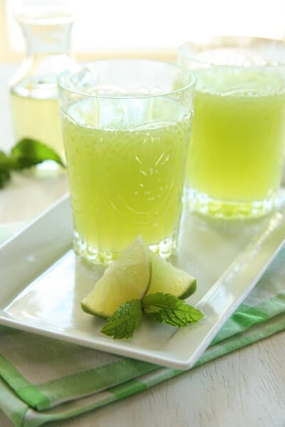 Post image for Honeydew Mint Agua Fresca
