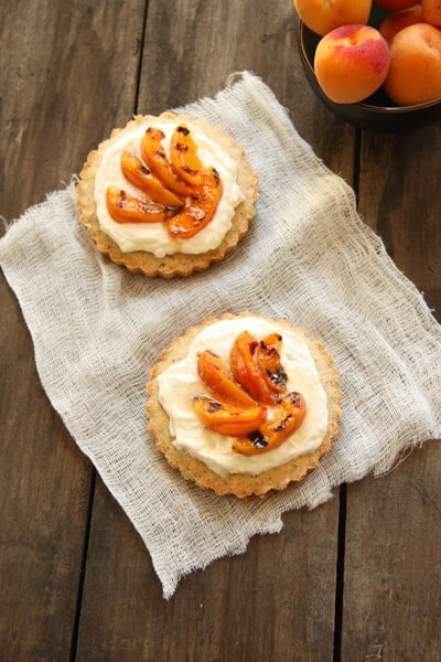 Almond Tart with Grilled Apricots BC2 Almond Tart with Grilled Apricots