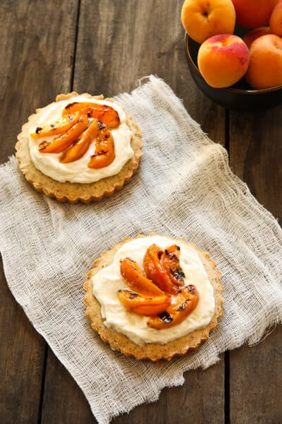 Almond Tart with Grilled Apricots bc11 Almond Tart with Grilled Apricots