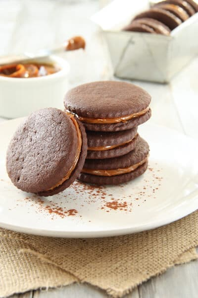 Chocolate, Chili and Dulce de Leche cookies