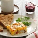 Cheesy Potato Bake - an easy dinner or breakfast with cheese, eggs and potatoes!
