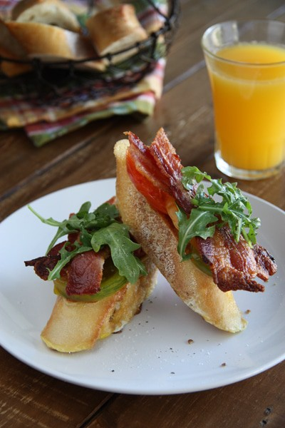 Bacon, Lettuce and Tomato French Toast