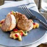 Pork with Ginger Apples and Parsnips