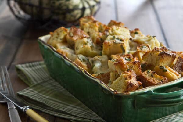 Savory Bread Pudding BC2 Easy Cheese and Herb Bread Pudding