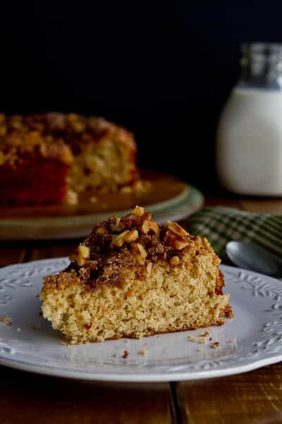 Brown butter and cardamom coffee cake