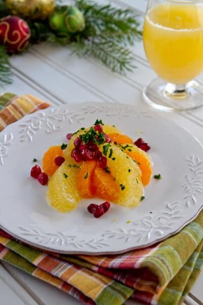 Refreshing citrus salad recipe with a mint gremolata.