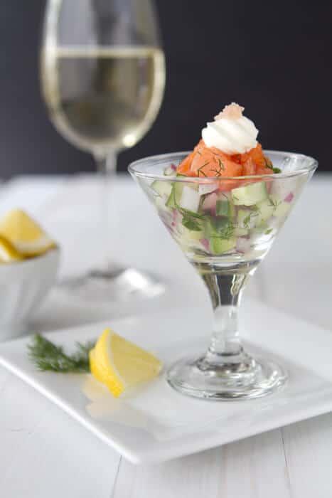 Salmon Gravlax Martini