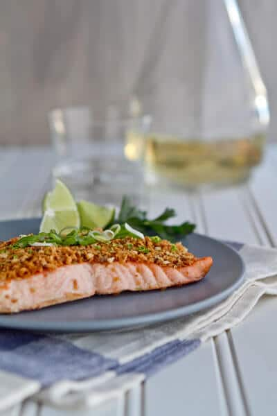 Post image for Asian Salmon with Panko and Lime