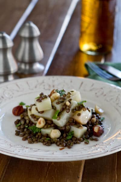Celeriac and lentils with hazelnut and mintBC1 Celeriac and Lentil Salad with Hazelnuts and Mint