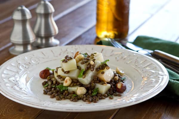 Post image for Celeriac and Lentil Salad with Hazelnuts and Mint