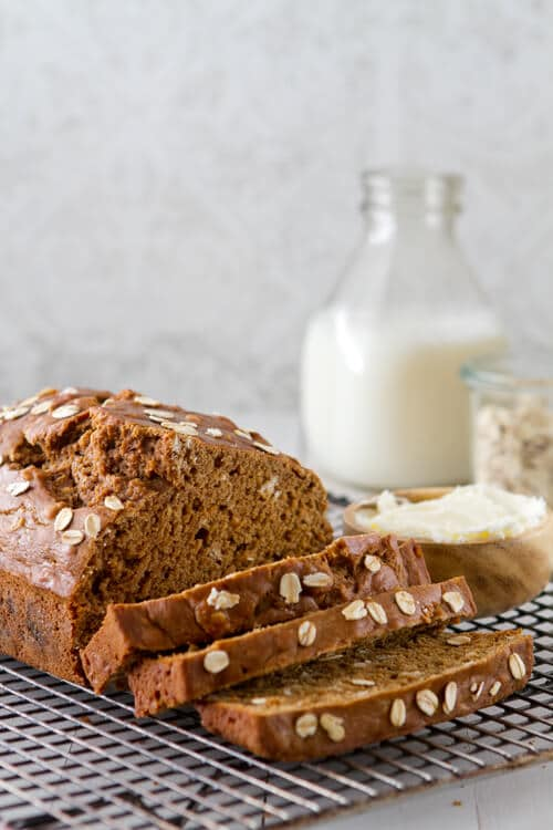This Irish Guinness Beer Bread recipe is tender, moist and incredibly easy! A little sweet and malty it's the perfect partner to irish stew!