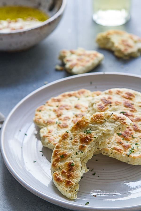Tender, moist and flavorful these incredibly easy, 30 minute no yeast Yogurt Flatbreads go with just about everything!