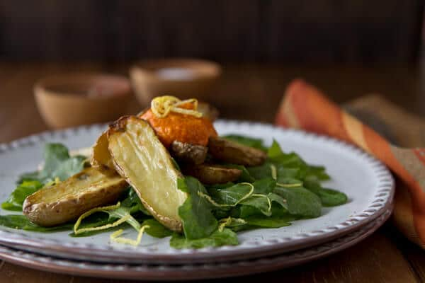 Post image for Potato Lover's Month with Idaho Potatoes: Romesco Fingerling Potato Salad
