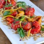 Roasted Pepper, Tomato and Farro Salad