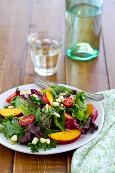 Nectarine, Corn and Tomato Salad
