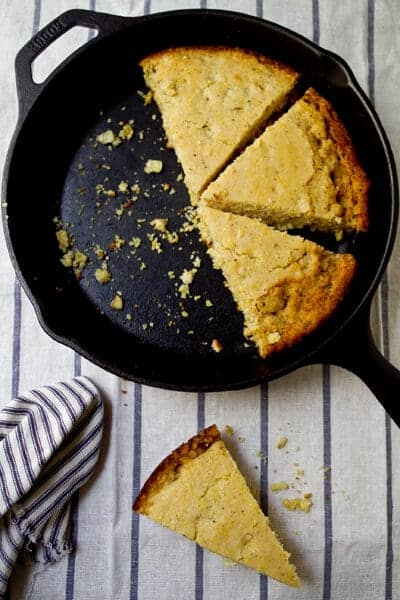 This Browned Butter Cornbread Recipe is sweet, nutty and  will make you swear off box mixes forever! Just as easy but so much better!!!