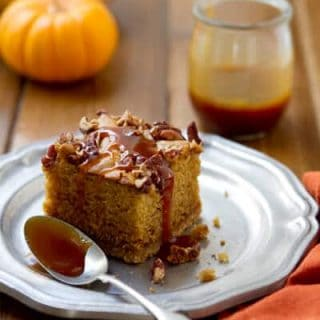This One Pan Brown Sugar and Nutmeg Cake, made from pantry staples, is moist and dense with a sweet nuttiness that's just right for fall!!