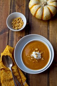 Sweet, salty, warm and silky, this easy Creamy and Healthy Pumpkin and Peanut Soup recipe, made from pantry staples is healthy and incredibly delicious.