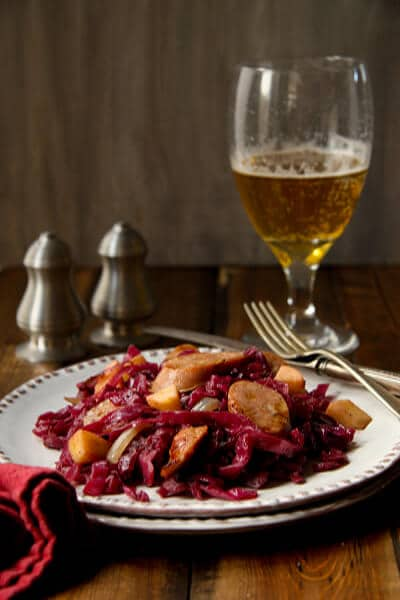 Cider Braised Cabbage and Sausage Cider braised Cabbage and Sausage