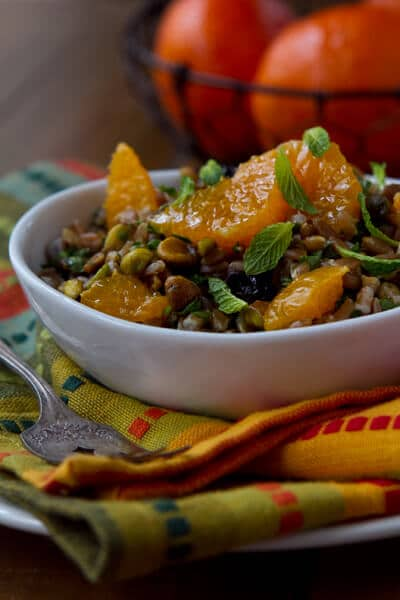 Farro Salad with Tangerines and Dried Blueberries Farro Salad with Tangerines and Dried Blueberries