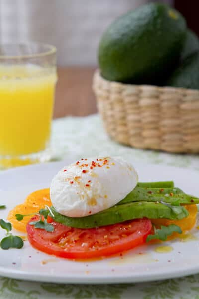 Avocado, Tomato and  Poached Egg Salad