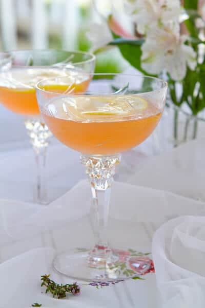 Lillet Rose Spring Cocktail Recipe — Dishmaps