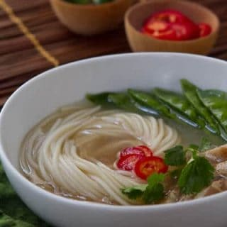 This easy Thai Hot and Sour Soup has all the flavors you love with a Thai twist! A flavorful broth, spiked with fresh chiles makes a fast weeknight meal!!!