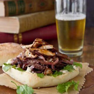 Steak, Mushroom and Talera Sandwich