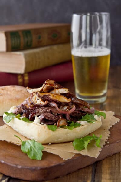 Steak, Mushroom and Talera Sandwich