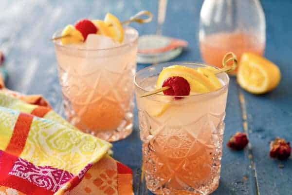 Sparking Rosewater Lemonade
