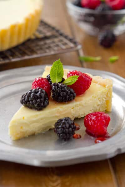 Yogurt Cheese Tart with Fresh Berries