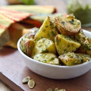 Hatch Chile Pesto Potatoes