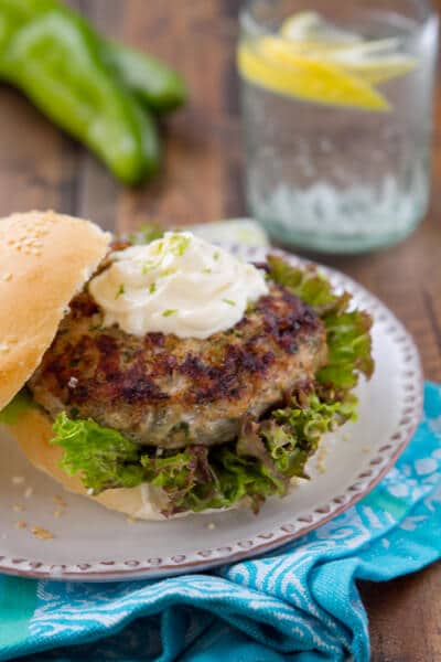 Hatch Chile Turkey Burger BC1 Hatch Chile Turkey Burger