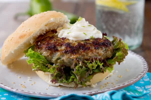 Hatch chile Turkey Burgers