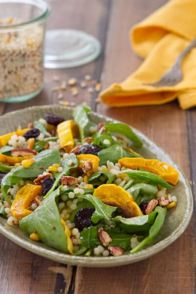 Post image for Roasted Delicata Squash Salad with Apple Butter Vinaigrette