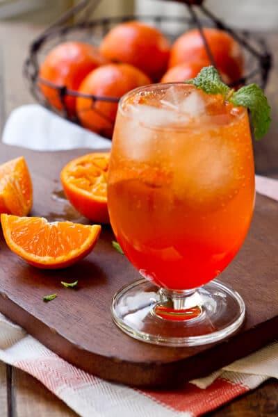 Aperol and Tangerine Spritz