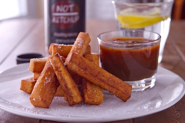 Indian Chickpea Fries with Smoky Date Not Ketchup 2 Indian Chickpea Fries with Smoky Date Not Ketchup