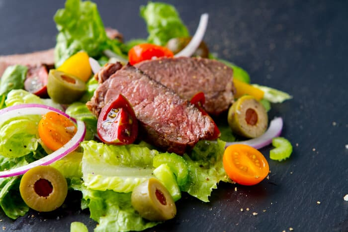 Tri Tip Salad with Bloody Mary Salsa