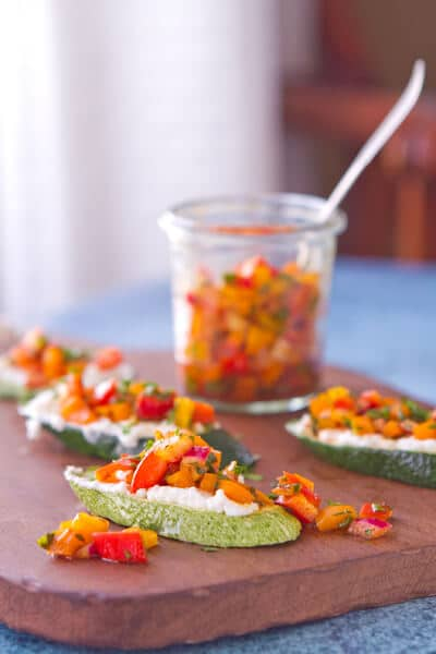 Post image for Zucchini Bruschetta with Pepper Relish